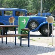 Ruse Bulgaria,blue old Mercedes