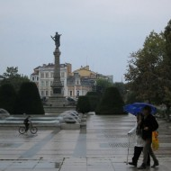 Ruse Bulgaria,on a rainy afternoon