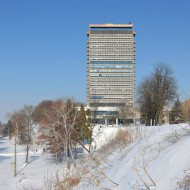 Ruse Bulgaria-Grand hotel Riga in winter