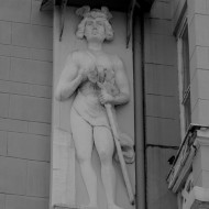 Ruse Bulgaria,male figure ornament on facade