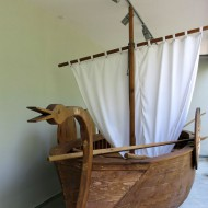 Ruse Bulgaria,Model of a roman sailboat