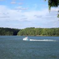 Motorboat on the Danube river,Ruse Bulgaria,