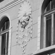 Ruse Bulgaria,an ornament on a facade in the city center