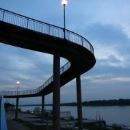 Ruse Bulgaria,Curved pedestrian bridge
