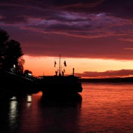 Danube River after sunset, Ruse, Bulgaria