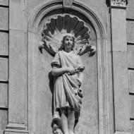Ruse Bulgaria,human figure of an old facade