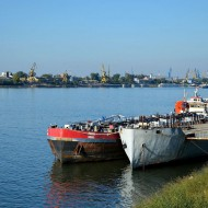 Ruse Bulgaria,ships on the Danube
