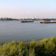 Ruse,ships on the Danube Bulgaria