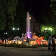 Ruse Bulgaria,the library fountain