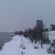 Ruse Bulgaria,wharf in the winter