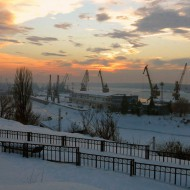 Bulgaria,winter in Shipyard Ruse